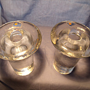 Pair Blenko Mid Century Candle Holders