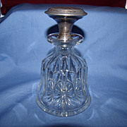 Panel Cut Glass and Silver Perfume Bottle