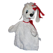 Character Novelty Company White Poodle Puppet c 1960's
