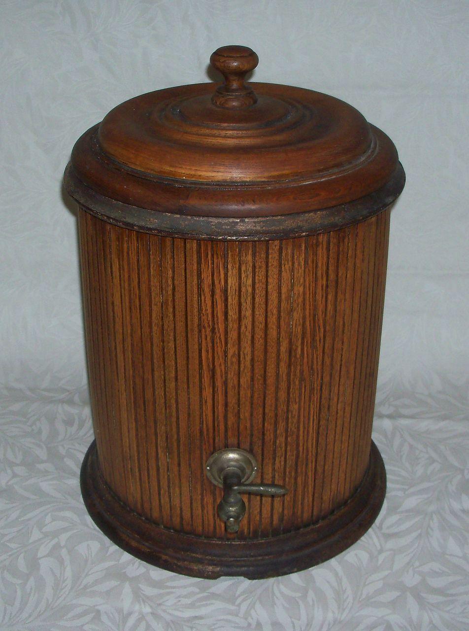 Igloo Water Cooler 5 Gallon Antique Primitive Wood Water Cooler or Dispenser