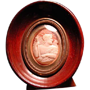 Framed museum quality Zeus with eagle cameo
