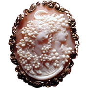 Fine cameo of Diana and Flora