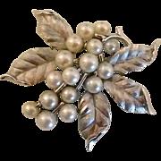 REDUCED Mid-century Trifari Faux Pearl Brooch
