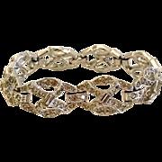 REDUCED 1940s Art Deco Rhinestone Bracelet