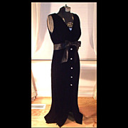SALE Black Velvet Evening Dress