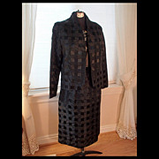 SALE Women's Designer Suit - Black Tone on Tone