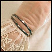 SALE Modernist Sterling Silver Designer Cuff Bracelet