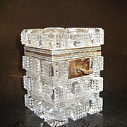 SOLD Fine French 19th Century cut-crystal box
