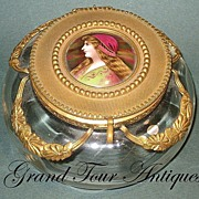 SOLD Exquisite French Napoleon III box with hand-painted miniature