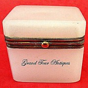 SOLD French 19th Century white opaline casket