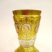 SOLD Bohemian Biedermeier 19th Century Beaker with 6 Angels