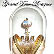 SOLD HUGE Palais Royal Mother of Pearl egg perfume set in original dome