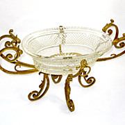 SOLD A Napoleon III Cut Crystal Centerpiece with Dore bronze Mounts.