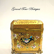 SOLD Rare MOSER 19th Century Turquoise Casket
