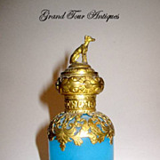 SOLD Palais Royal Opaline Scent Bottle with Dog Stopper