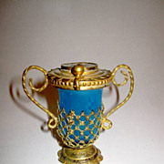 SOLD Palais Royal Opaline Glass Bottle with Miniature