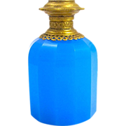 Palais Royal Blue Opaline Glass Faceted Perfume Bottle