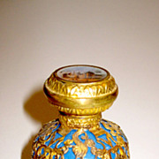 SOLD Opaline Glass Circa 1860 Palais Royal Perfume Bottle