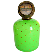 SOLD Antique French Opaline Glass Scent Bottle