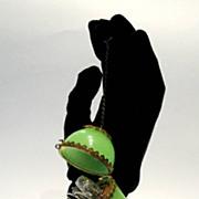 SOLD Palais Royal Green Opaline Etui