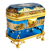 SOLD Stunning Moser Turquoise Casket