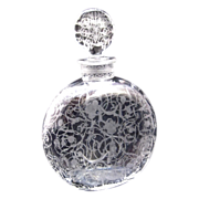 Antique Baccarat Michelangelo Crystal Signed Engraved Scent Bottle