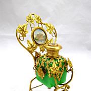 SOLD Palais Royal Green Opaline Glass Scent Bottle