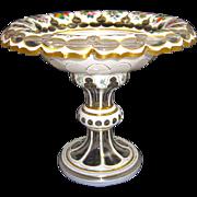 Antique Bohemian Overlay Glass Centrepiece