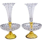 SOLD Antique Pair of BACCARAT Crystal Vases