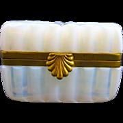 Antique French White Opaline Bulle de Savon Casket Box