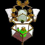 Large Antique French Crystal Dressing Table Set Casket Box