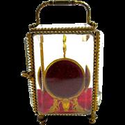 Antique French Dore Bronze Cherub Pocket Watch Casket Box