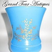 SOLD French circa 1840 Blue Opaline Beaker