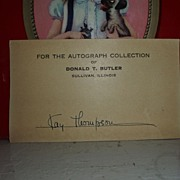 SALE PENDING Signed autograph by Author of Eloise books Kay Thompson