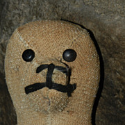Antique Amish stuffed animal seal toy. One of a kind!