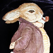SALE PENDING Just in Time for Easter! Original Watercolor painting ! Mr Benjamin Bunny