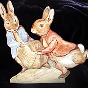 SALE PENDING ON HOLD Just in Time for Easter! Original Watercolor painting ! Peter Rabbit and