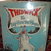 Dr Seuss Thidwick The Big Hearted Moose 1948 with Dust jacket 200/200