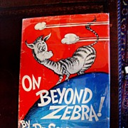 SALE On Beyond Zebra! Dr Seuss 1st printing in Dust Jacket 1955