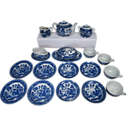 SOLD Child's 21 Piece Transferware Tea Set - Blue Willow - Made in Japan 1950's