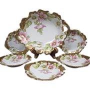 Porcelain Nut or Mint Set - 6 Piece with Master Bowl and 5 Smaller Bowls - Tirschenreuth ...