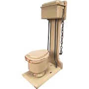 """Wooden Toilet for Dollhouse - Made in Germany - 1"""" Scale"""