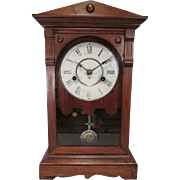 SOLD Antique Seth Thomas Shelf or Mantle Clock in Walnut Case - 30 Hour Movement - Dated 1886