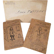 """McCalls Sewing Patterns for 14"""" Doll - Turn of the Century Middy Styles - Plus Bonus Patt"""