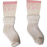 SOLD Nylon Doll Socks - New Old Stock Still on Card - Size 10-12