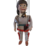 Davy Crockett Collectibles - Peter Puppet Playthings Marionette, Disney Pencil Case and Plasti