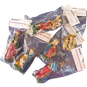 Six Hand Painted Nativity Figurines in Original Package