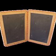 Vintage School Double Slate Chalkboard