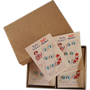 SOLD 12 Cards Baby Buttons in Box - NOS