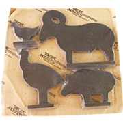 Cast Iron Shooting Targets in Original Package